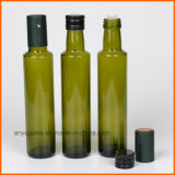 호박색 녹색 명확한 색깔을%s 가진 둥근 올리브 유리병
