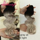 Teinture de cheveu sans armure malaisienne de cheveu d'Ombre d'onde de corps de produits chimiques