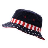 Chapéu impresso da balde de Boonie da bandeira americana feita sob encomenda