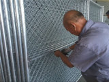 clôture provisoire de maillon de chaîne de hauteur de 6FT, panneau de frontière de sécurité de maille de maillon de chaîne