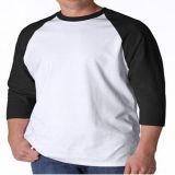 T-shirt en gros prérétréci de douille de Raglan