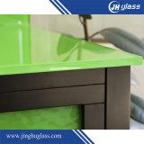 vidrio laqueado verde de 8m m para la decoración de la pared de la cocina