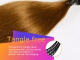 pelo humano del grado 7A que teje el pelo indio de la Virgen del color de Ombre derecho