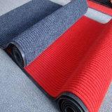 Gewellte Belüftung-Tür-Matte für die gewerbliche Nutzung (mit Rippen versehen, velour+PVC Schutzträger)