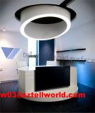 Eindeutiger MarmorCustomzed runder Empfang-Schreibtisch der Form-LED
