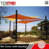 Résistance à la traction élevée Verre UV Tissu à l'extérieur Commercial Sun Shade Canopy Voile