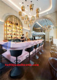 High Glossy White Shop Counters Mobilier lumineux Bar à vin Restaurant Counter Design