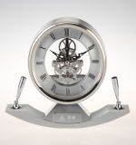 ペンのホールダーK3037が付いている新しいデザイン置時計の昇進のギフト