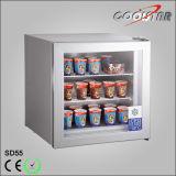 Tempered 단 하나 유리제 문 전시 냉장고 (SD-55)