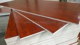 Het meubilair Gebruikte Triplex van de Populier van de Melamine Buitensporige met de Korrel van de Okkernoot voor Decoratie