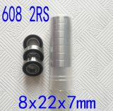 Alta precisión 608 rodamientos de bolas de cerámica híbridos del rodamiento de bolitas del patín 608 2RS