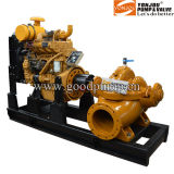 Nfpa20 150gpm ~ 1000gpm محرك ديزل مكافحة الحرائق مضخة، مضخة سبليت حالة