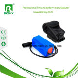 18650 блок батарей Li-иона 2s1p 7.4V 2200mAh для электрофонаря