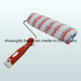 Gris y Red Stripe Paint Roller con Handle