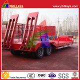 40tons 2 Eixos Heavy Duty Truck Low Bed Trailers
