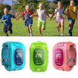 Relógio de venda quente do perseguidor do GPS dos miúdos com posição de Tirple