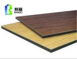 El panel compuesto de aluminio exterior del panel de la fachada de aluminio de interior del emparedado