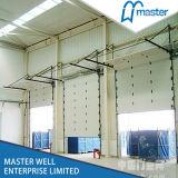 Porta aérea secional industrial isolada aço galvanizada