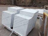 Laje de mármore branca lustrada, telhas de mármore brancas baratas, pedra de mármore