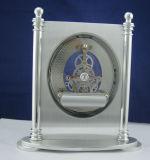 L'alta qualità ha spazzolato il ricordo stabilito di affari dell'orologio dell'orologio K8058se dello scrittorio del metallo del regalo di scheletro del kit