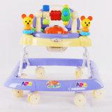 Marcheur tournant de bébé de couleur rose avec des roues de qualité