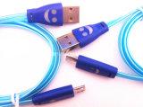 Micro cabo do sorriso do USB do cabo de dados do USB para o telefone móvel