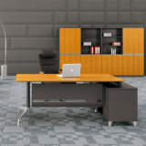 Do painel de bambu contínuo da grão da parte alta tabela executiva do computador para a mobília de escritório