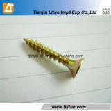 Tornillos plateados cinc amarillo material del conglomerado de C1022A