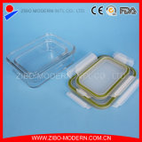 Recipientes de alimento Ovenware elevados do vidro de Borosilicate