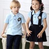 La coutume colore les uniformes scolaires chemise et la jupe de pli