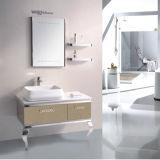 Мебель ванной комнаты просто пола стоящая стальная с зеркалом