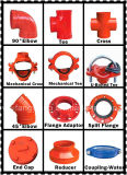FM/UL/Ce Approved Ductile Iron Threaded Mechanical Tee für Fire Fighting Systems-1nuo Brand