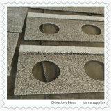 Tapas de la vanidad del granito del blanco chino y del gris