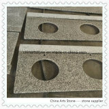 Partes superiores da vaidade do granito do branco chinês e do cinza