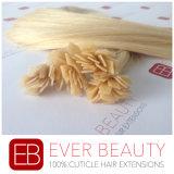 Extensão Pre-Ligada do cabelo humano da queratina Mongolian lisa da ponta