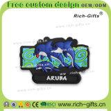 Cadeaux Aruba (RC-AA) de promotion personnalisés par dessin animé de souvenir d'aimants de réfrigérateur de PVC