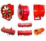 Type axial de ventilateur de lames d'aluminium/fer/acier inoxydable pour la ventilation de tunnel