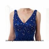Frauen-Spitze-Sleeveless reizvolles Nixe V-Stutzen Abend-Partei-Abschlussball-Kleid
