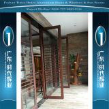 Portes en aluminium de bonne qualité de la Chine Top10 avec de doubles glaces
