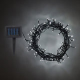Luces de hadas de la decoración de la cadena de la energía solar 100 LED del LED