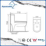 Один туалет шара части двойной полный керамический круглый передний (ACT7005)
