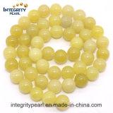 De heet-verkoopt Nieuwe Natuurlijke Halfedelsteen van de Aankomst loopt 4 6 8 10 de 12mm los Natuurlijke Ruwe vast Steen van de Jade van de Citroen