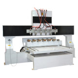 3D gravura, 8 Multi-Eixos, router do CNC da linha central do Woodworking 4