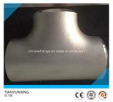 Té égal sans joint soudé bout à bout d'acier inoxydable d'ASTM