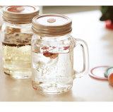 Leerer trinkendes Glas-Becher/Handgriff-Glasbehälter