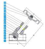 Linha Bsp/BSPT/NPT da válvula Pn16/40 do assento do ângulo