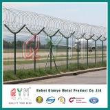 PVCかみそりワイヤーが付いている上塗を施してある空港安全塀