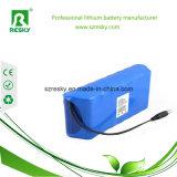 bloco recarregável da bateria de lítio de 48V 20ah 1000W com bloco azul do PVC e da bateria do Li-Po dos fios
