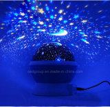 Светильник проекции DC5V звезды СИД мечт с 4 ABS батареи поворачивает светильник проекции