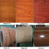 Il reticolo di legno PPGI ha galvanizzato la bobina d'acciaio/la bobina d'acciaio ricoperta colore